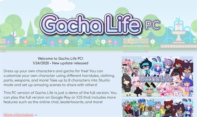 Bước 1: Vào trang tải Gacha Life