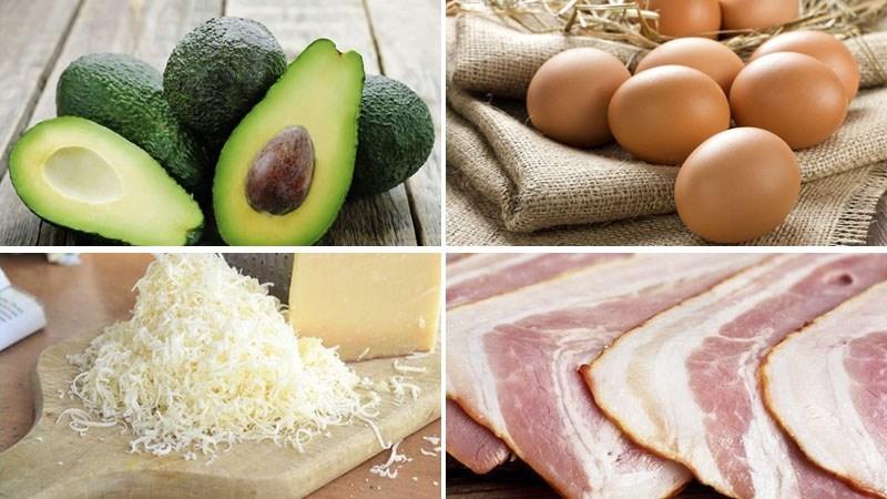 Nguyên liệu món ăn bơ nướng trứng phô mai