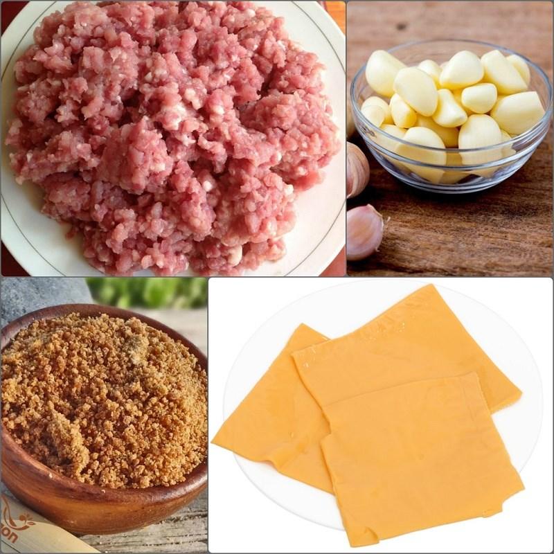 Nguyên liệu món ăn thịt xiên nướng phô mai kiểu thái