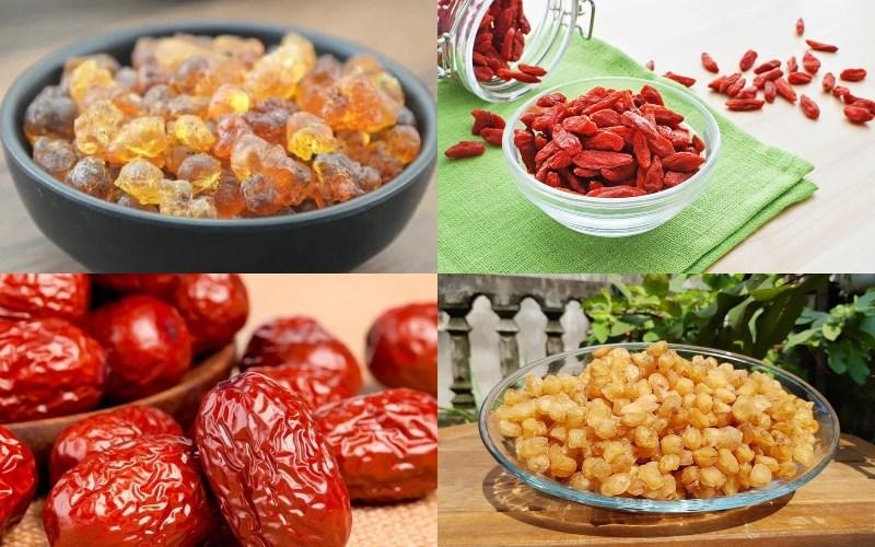 Nguyên liệu món ăn chè dưỡng nhan