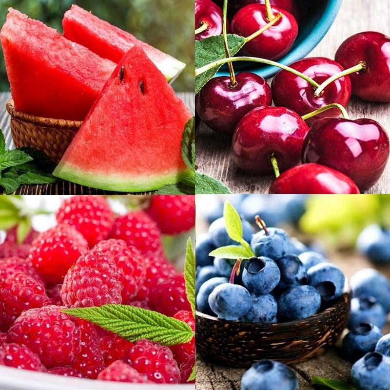 Nguyên liệu món ăn salad hoa quả giảm cân từ trái cây họ berry