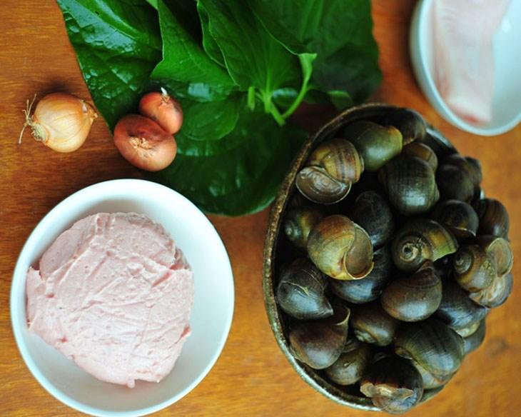 Nguyên liệu món ăn chả ốc bươu