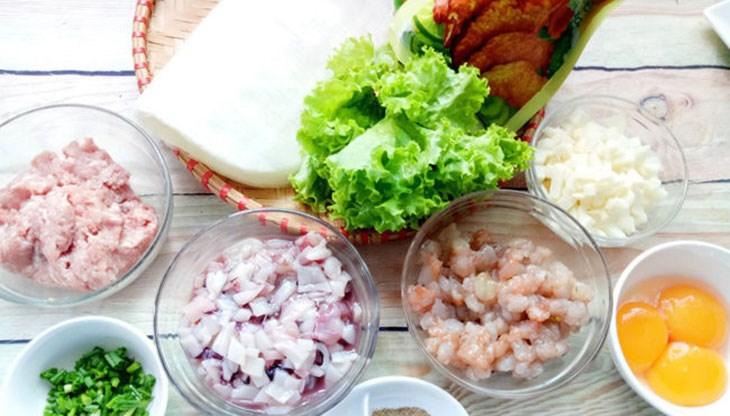 Nguyên liệu món ăn nem hải sản chiên xù
