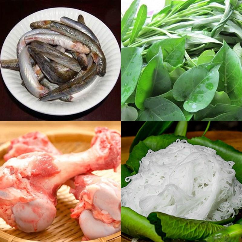 Nguyên liệu món ăn lẩu cá kèo lá giang
