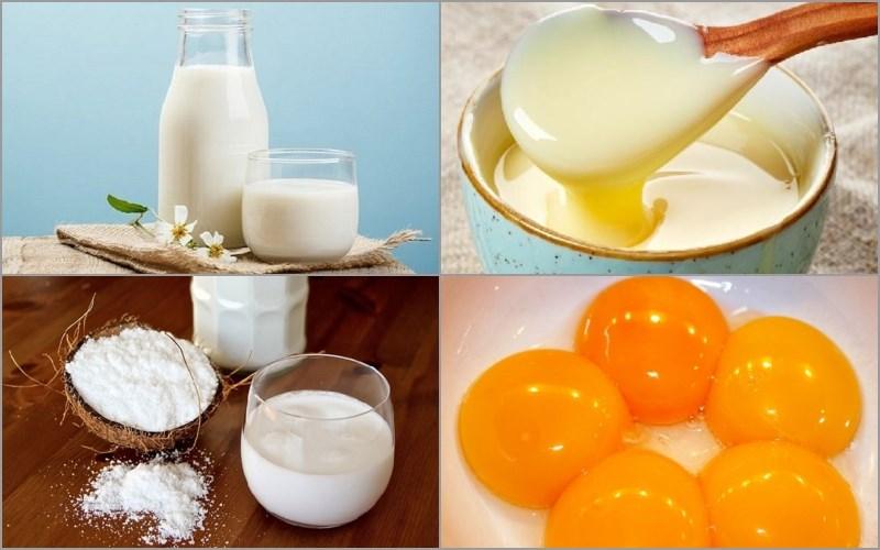 Nguyên liệu món ăn kem sữa dừa tràng tiền