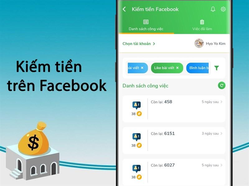 Các hoạt động kiếm tiền trên Facebook