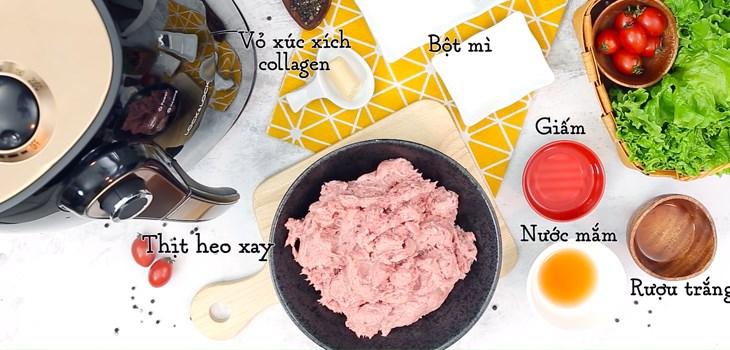 Nguyên liệu món ăn xúc xích nướng