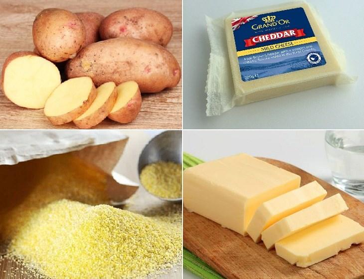 Nguyên liệu món ăn khoai tây nướng phô mai kiểu pháp