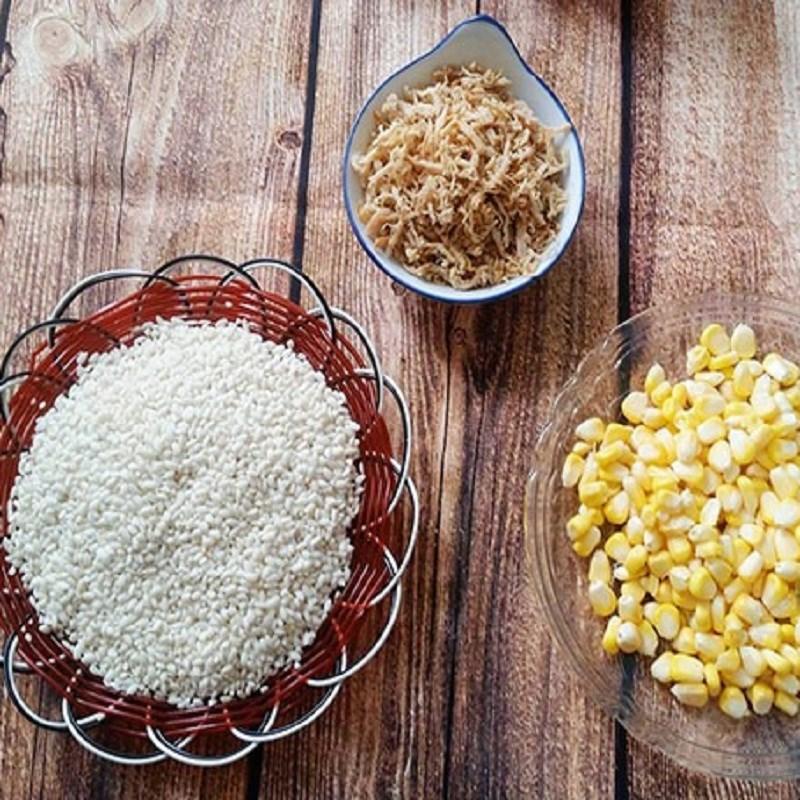 Nguyên liệu món ăn xôi bắp