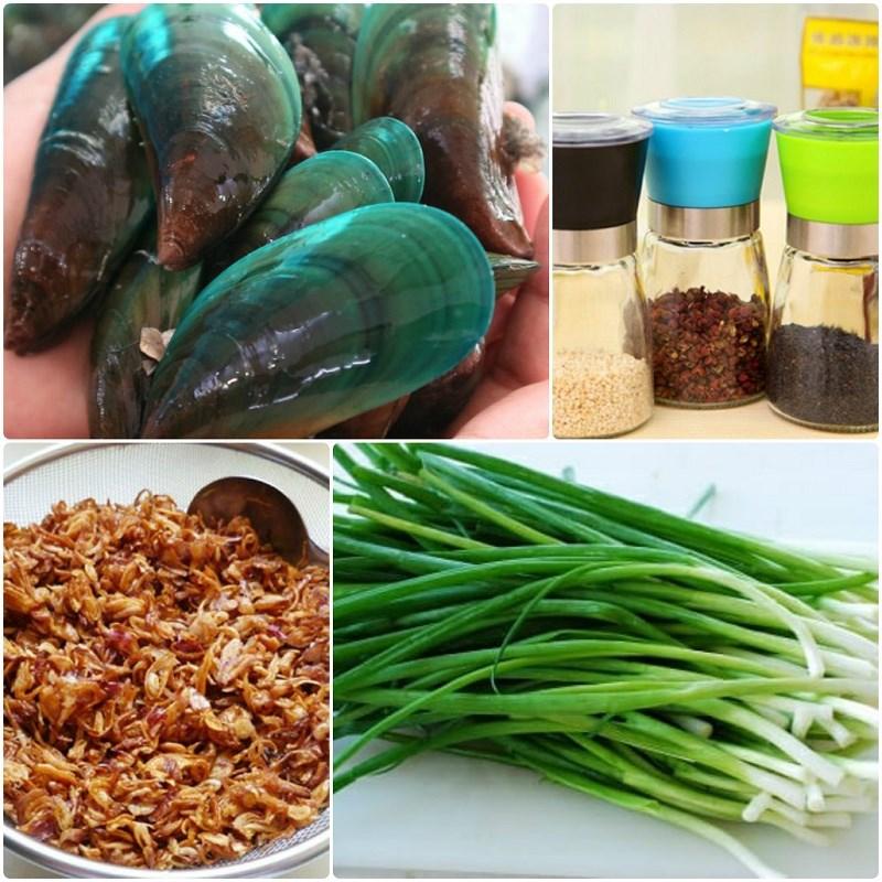 Nguyên liệu món ăn cách làm vẹm nướng