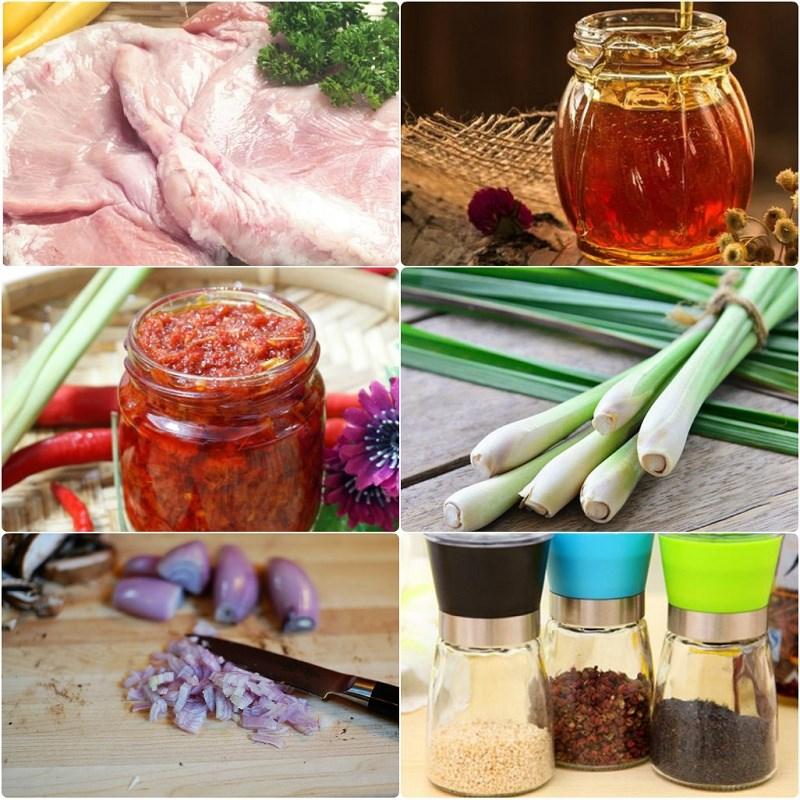 Nguyên liệu món ăn bao tử nướng sa tế và bao tử nướng ngũ vị