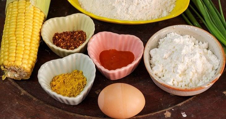 Nguyên liệu món ăn 2 cách làm ngô chiên