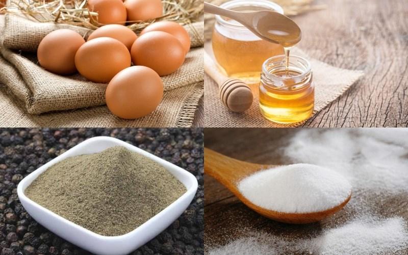 Nguyên liệu món ăn trứng gà nướng thái