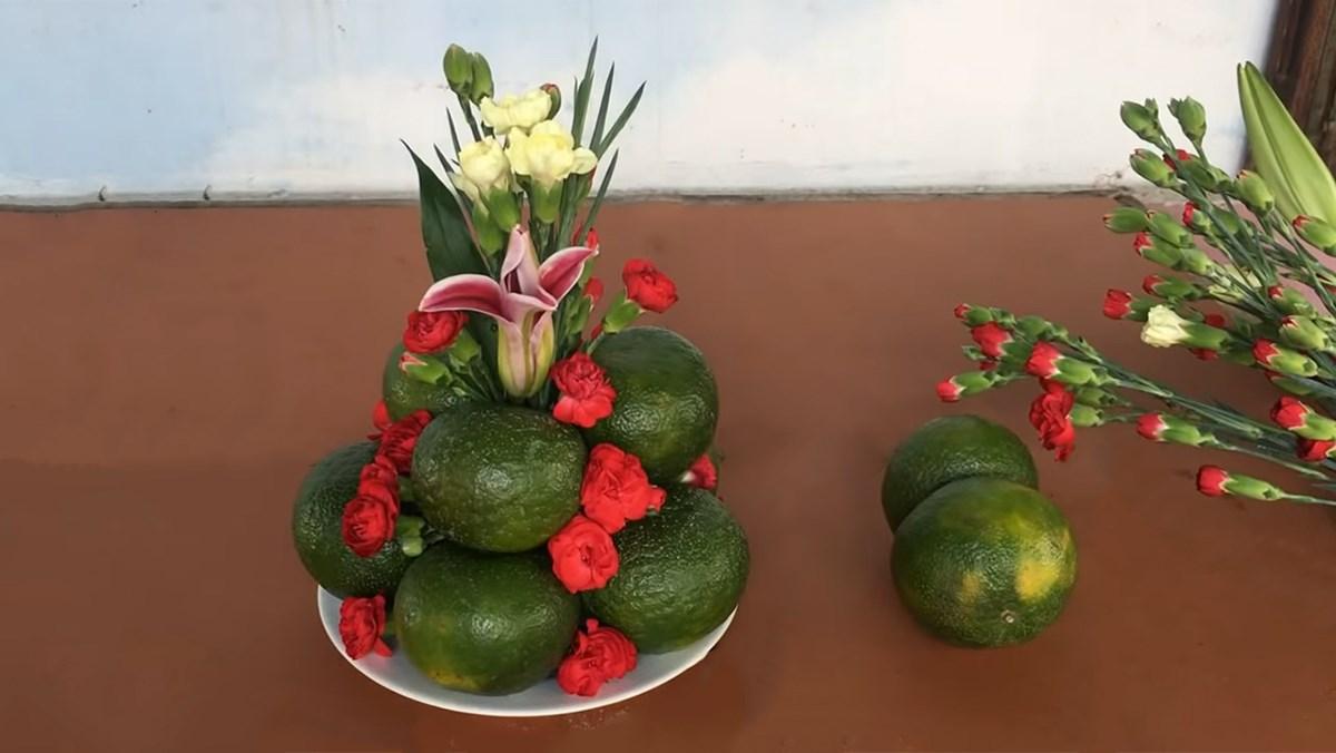3 cách trang trí đĩa hoa quả rằm Trung thu