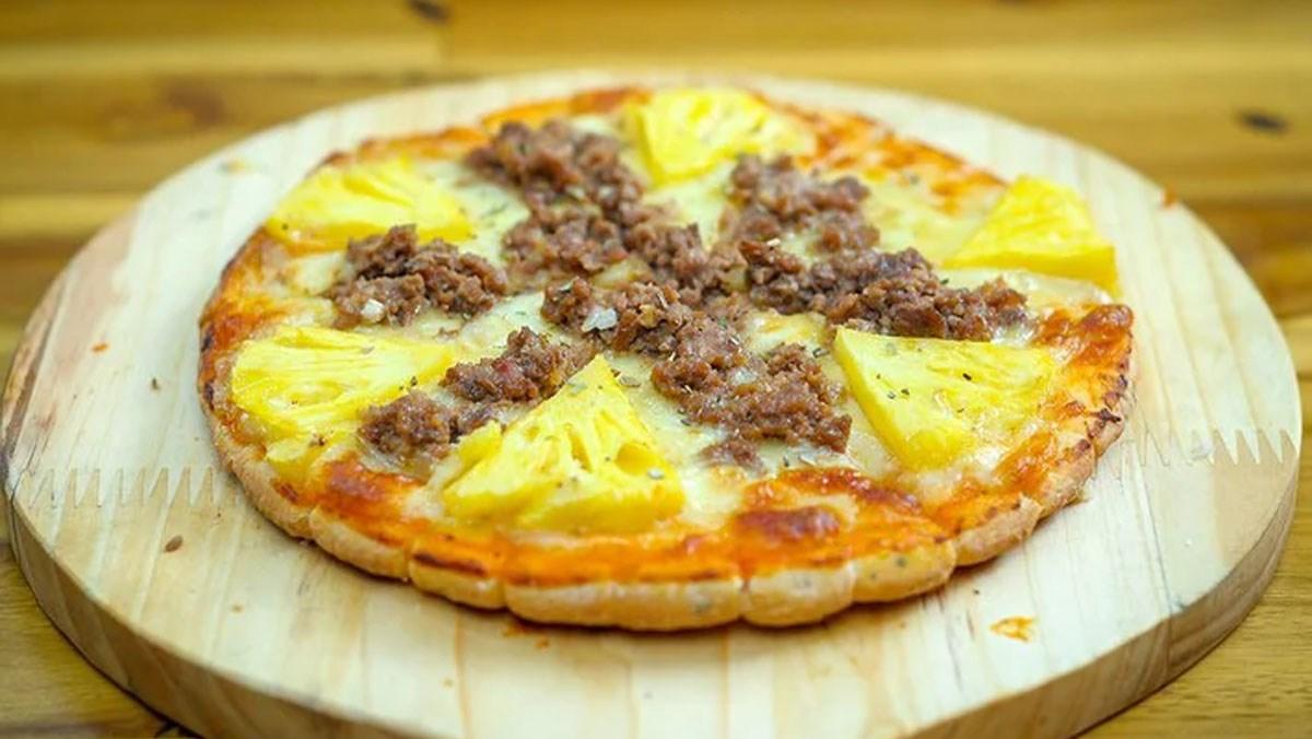 Pizza bò dứa