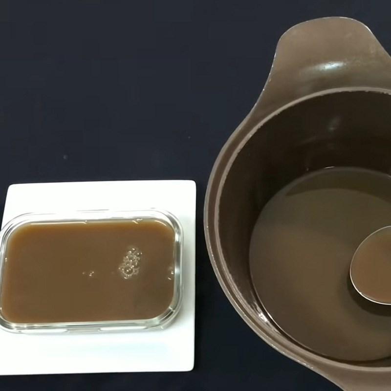 Bước 3 Làm thạch cà phê Chè matcha ngọc thạch