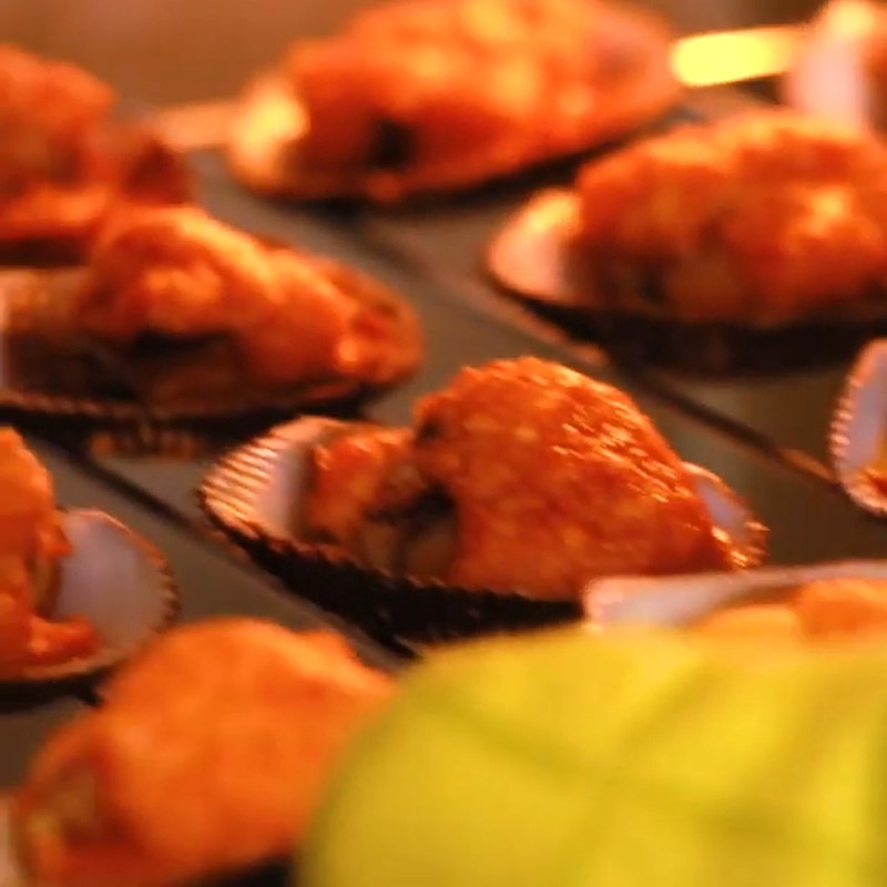 Bước 3 Nướng sò lông Sò lông nướng sa tế