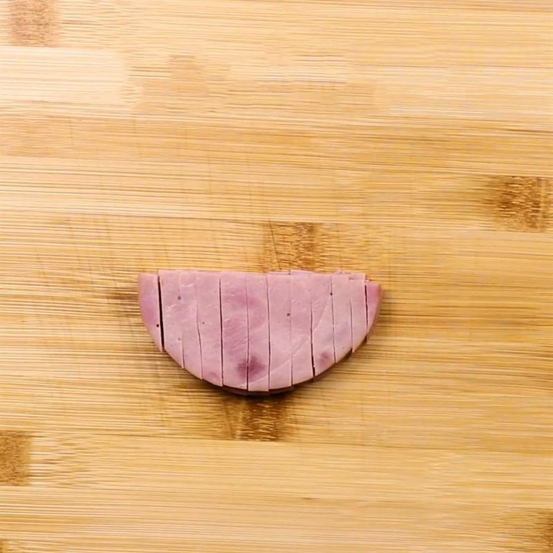 Bước 1 Sơ chế nguyên liệu Pizza jambon mini