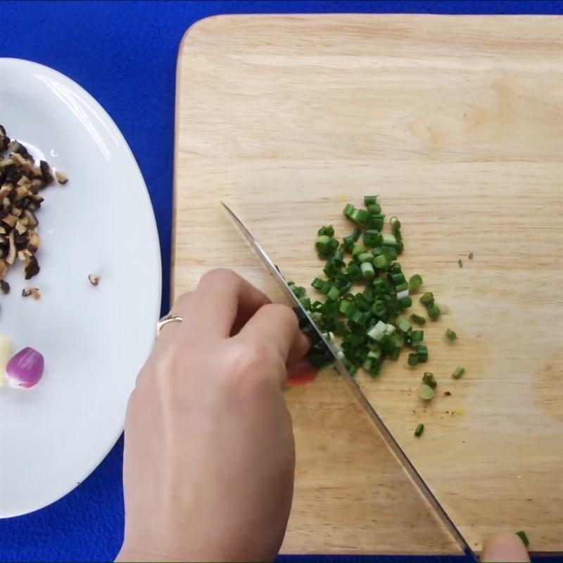 Bước 2 Sơ chế nguyên liệu Đậu hũ sốt thịt bằm
