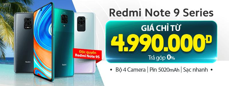 Redmi Note 9 Series[break]Giá Chỉ Từ 4.990.000đ