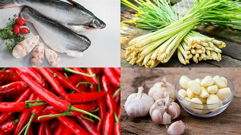 Nguyên liệu món ăn cá basa nướng sả ớt