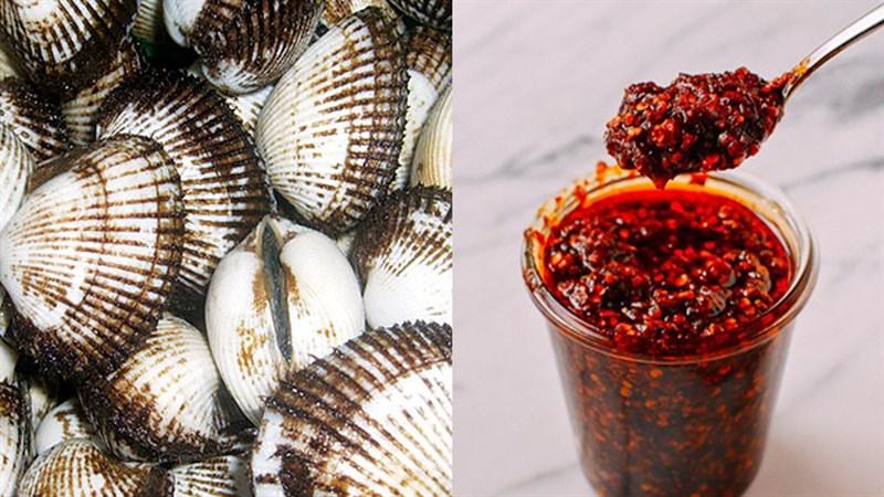 Nguyên liệu món ăn sò lông nướng phô mai và sò lông nướng sa tế
