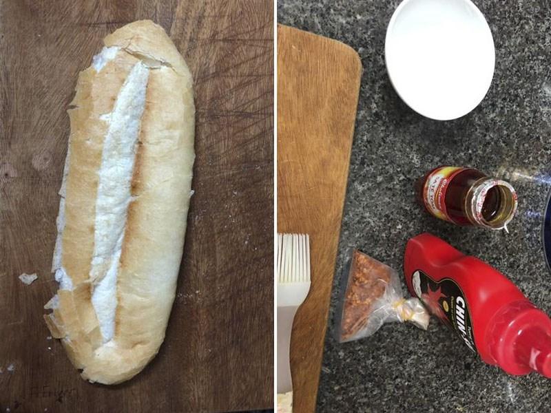 Nguyên liệu món ăn bánh mì nướng muối ớt