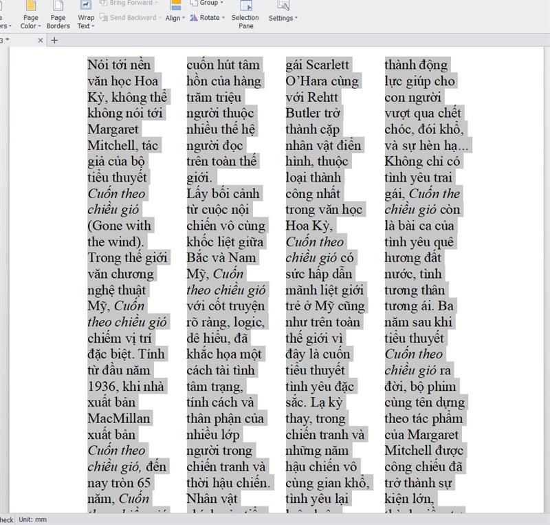 cách chia cột trong word đều nhau và bỏ cột đơn giản nhất.