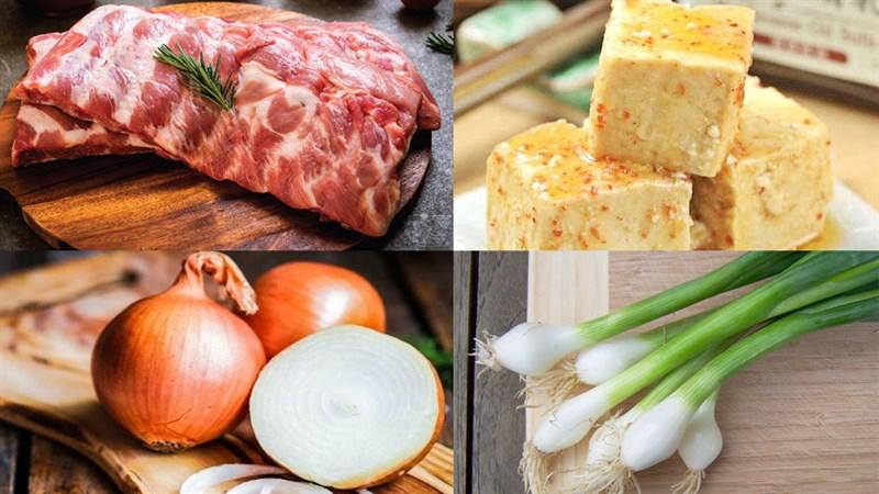 Nguyên liệu món ăn sườn non kho chao