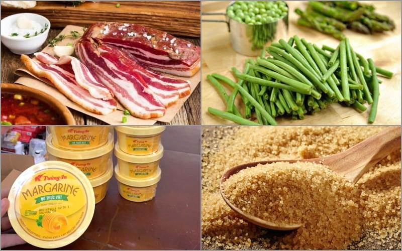 Nguyên liệu món ăn thịt cuốn đậu que