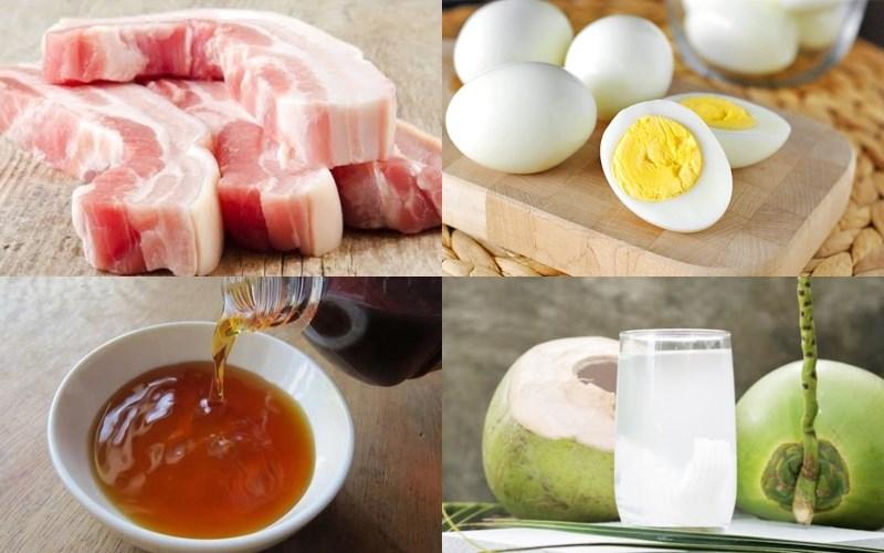 Nguyên liệu món ăn thịt kho tàu