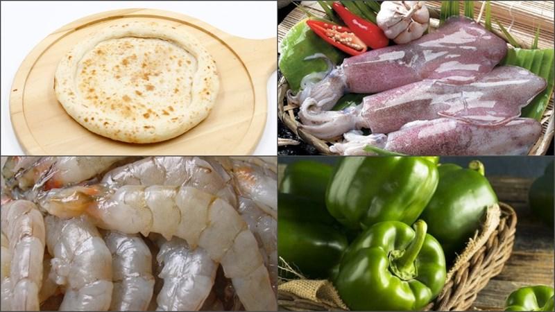 Nguyên liệu món ăn pizza hải sản