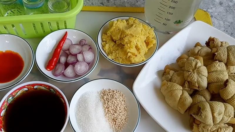 Nguyên liệu món ăn gà kho tàu chay