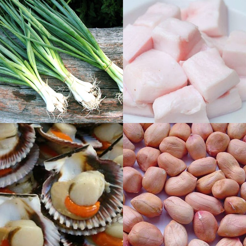 Nguyên liệu món ăn sò điệp nướng mỡ hành