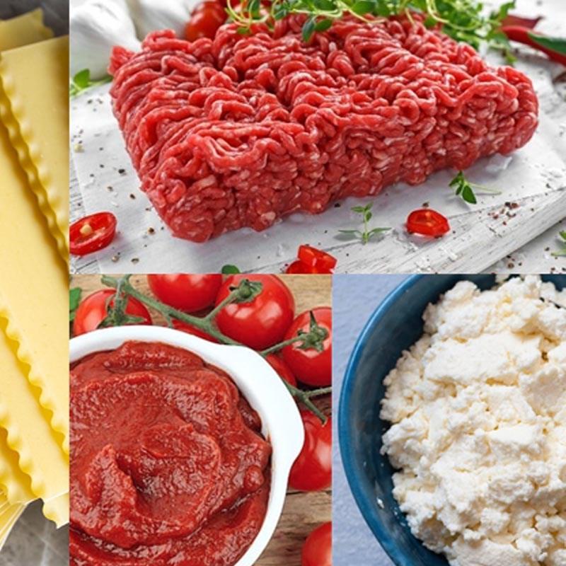 Nguyên liệu món ăn thịt bò viên xốt tương cà bằng lò nướng