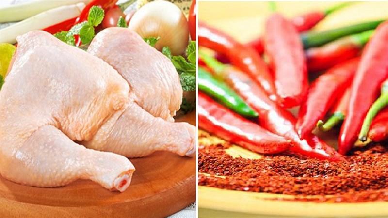 Nguyên liệu món ăn gà nướng cay 7 cấp độ