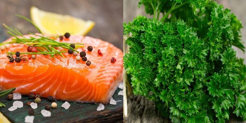 Nguyên liệu món ăn cá hồi phi lê nướng