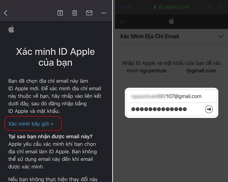 Xác thực email đăng ký tài khoản.