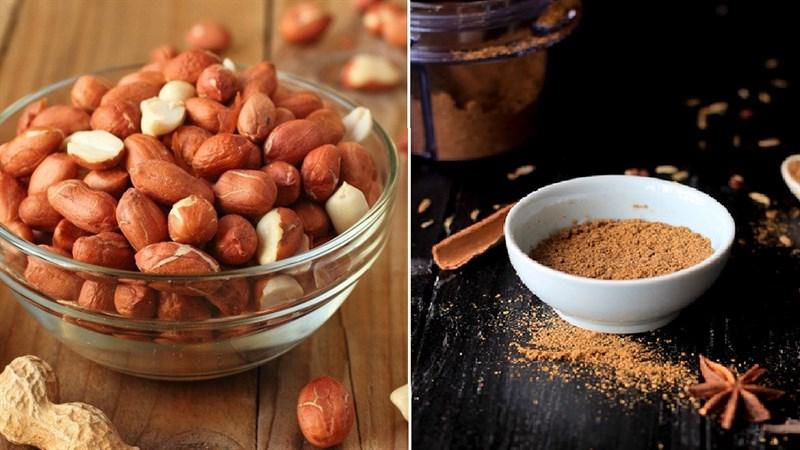 Nguyên liệu món ăn đậu phộng nướng ngũ vị