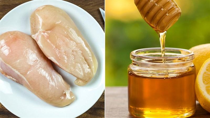 Nguyên liệu món ăn ức gà nướng mật ong