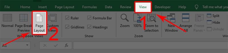 4 cách đánh số trang trong Excel: đánh số bất kỳ, đánh số trang 1/2
