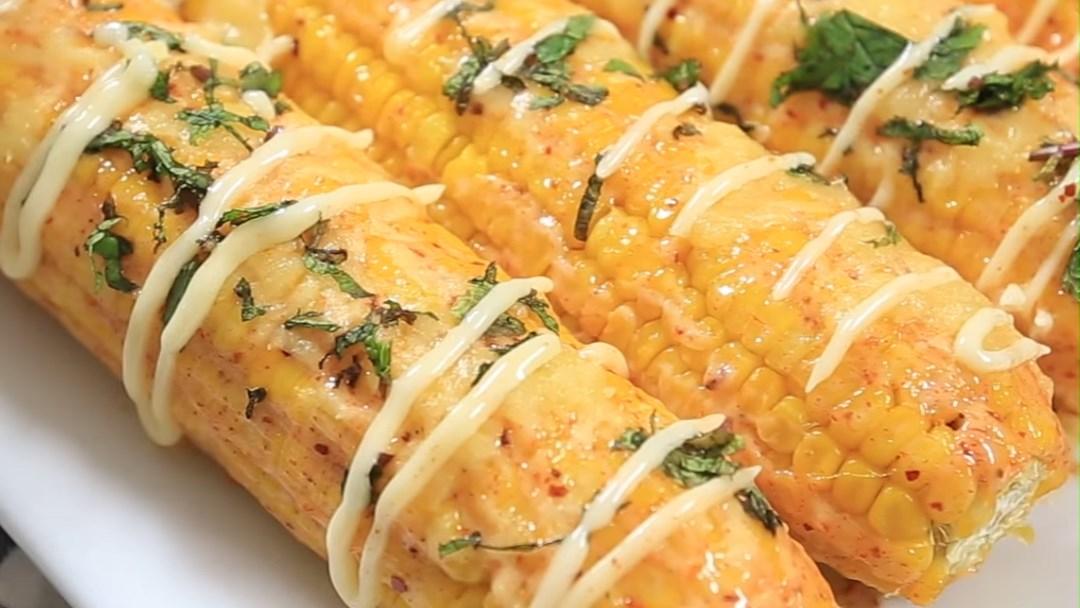 Bắp nướng mỡ hành sốt mayonnaise