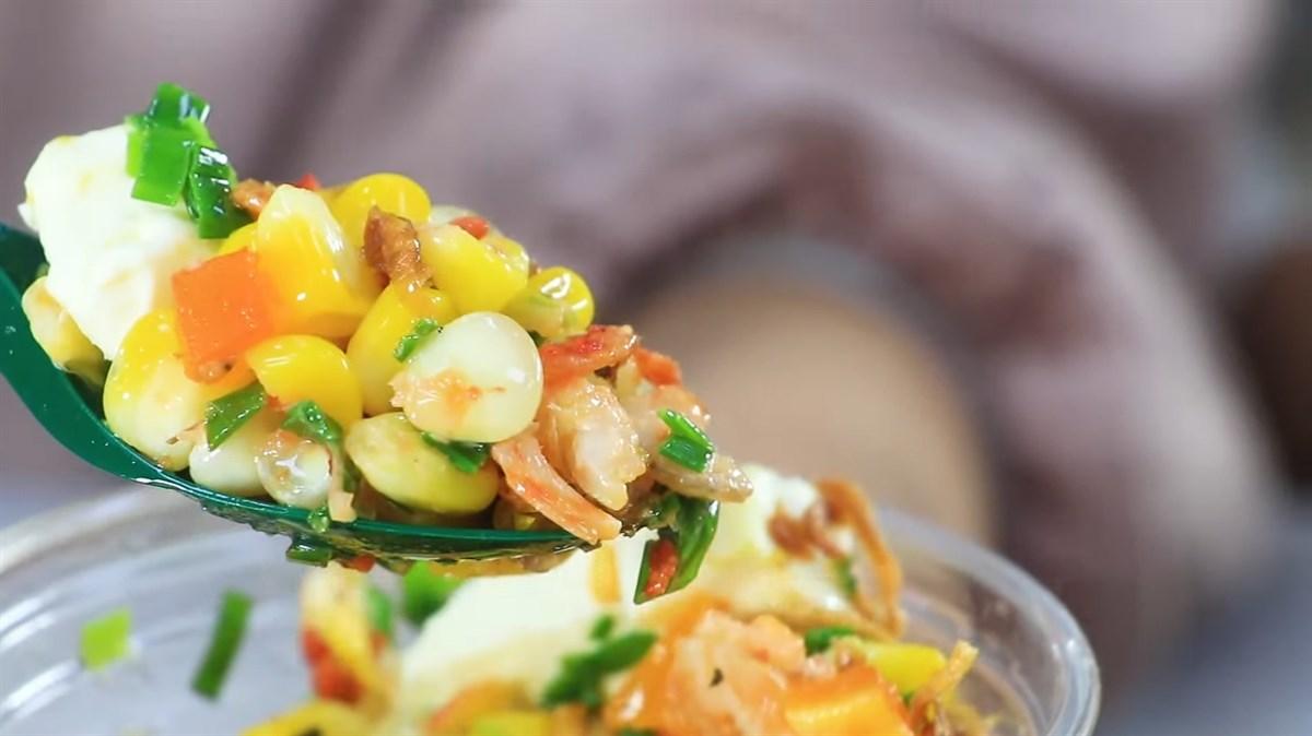 Bắp nướng mỡ hành sốt phô mai trứng muối
