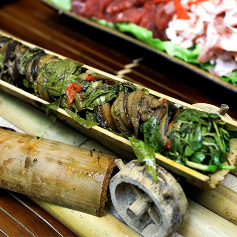 Bước 5 Thành phẩm Lươn nướng ống tre và lá chuối