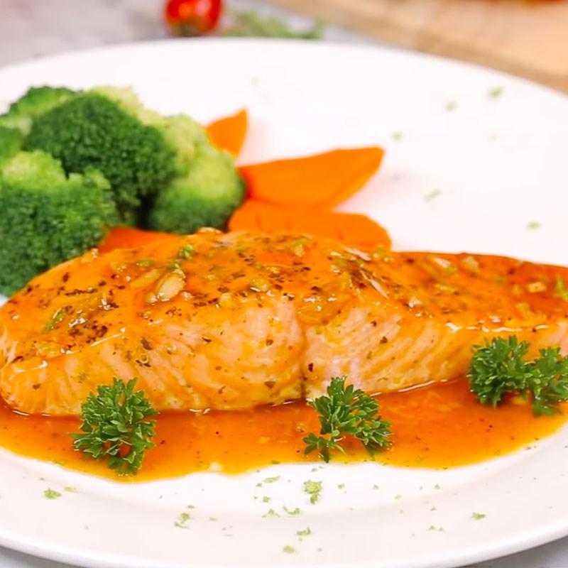 Bước 5 Thành phẩm Cá hồi nướng sốt bơ chanh
