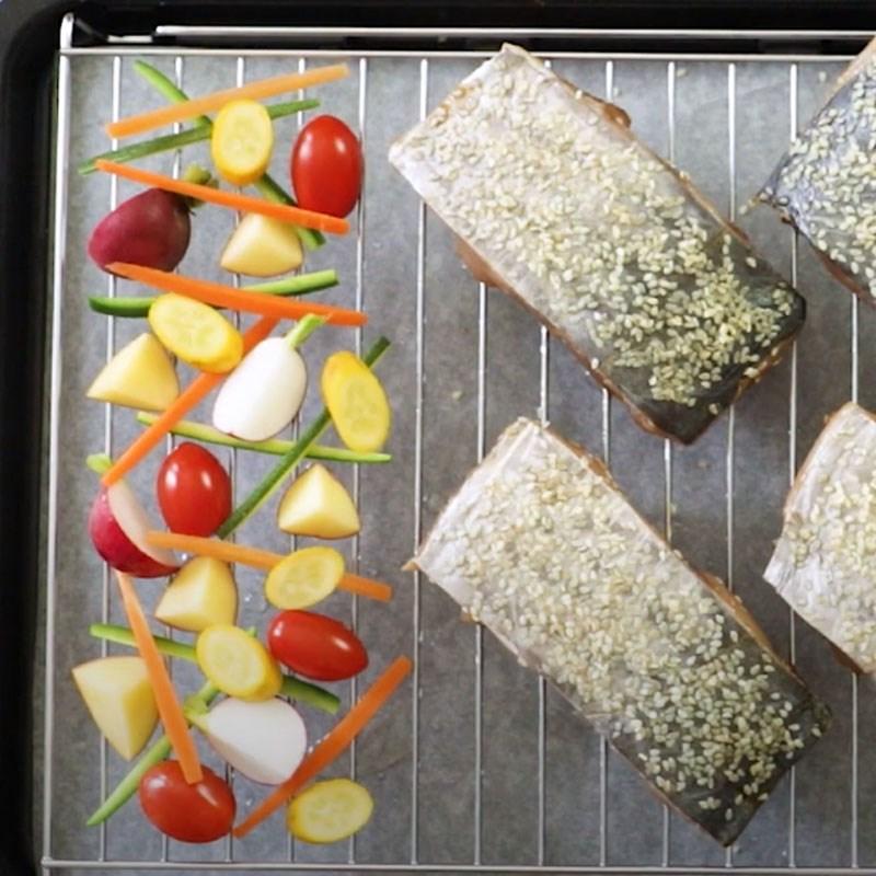 Bước 3 Nướng cá Cá thu nướng rau củ