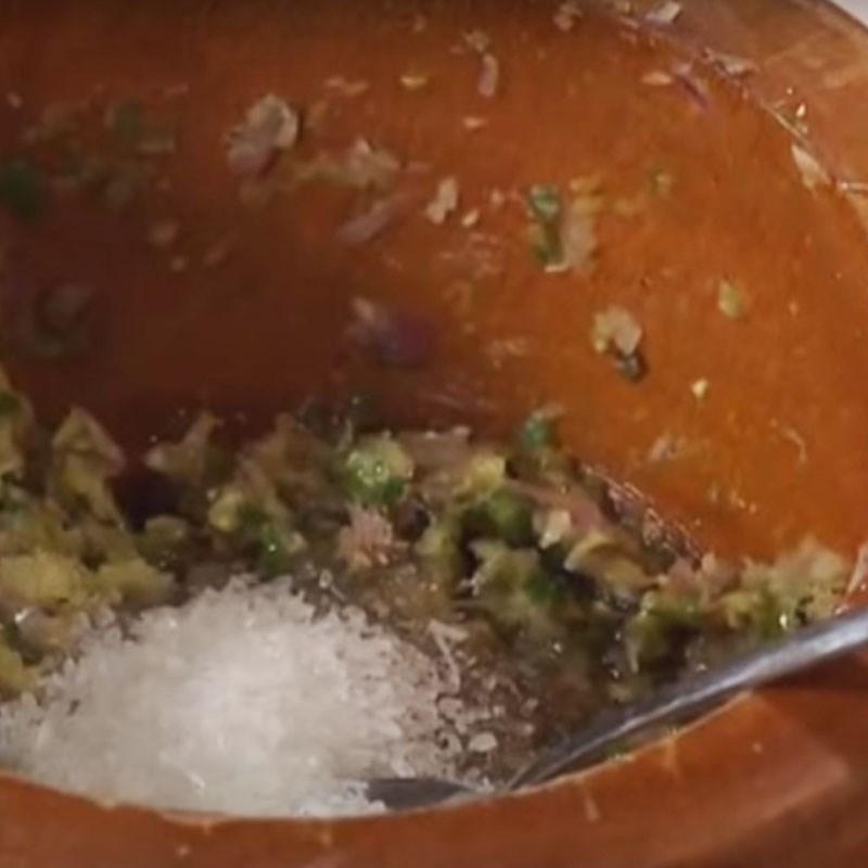 Bước 1 Làm hỗn hợp ướp cá Cá thu nướng ớt xanh