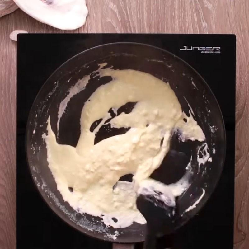 Bước 3 Làm sốt kem phô mai Cá hồi nướng phô mai