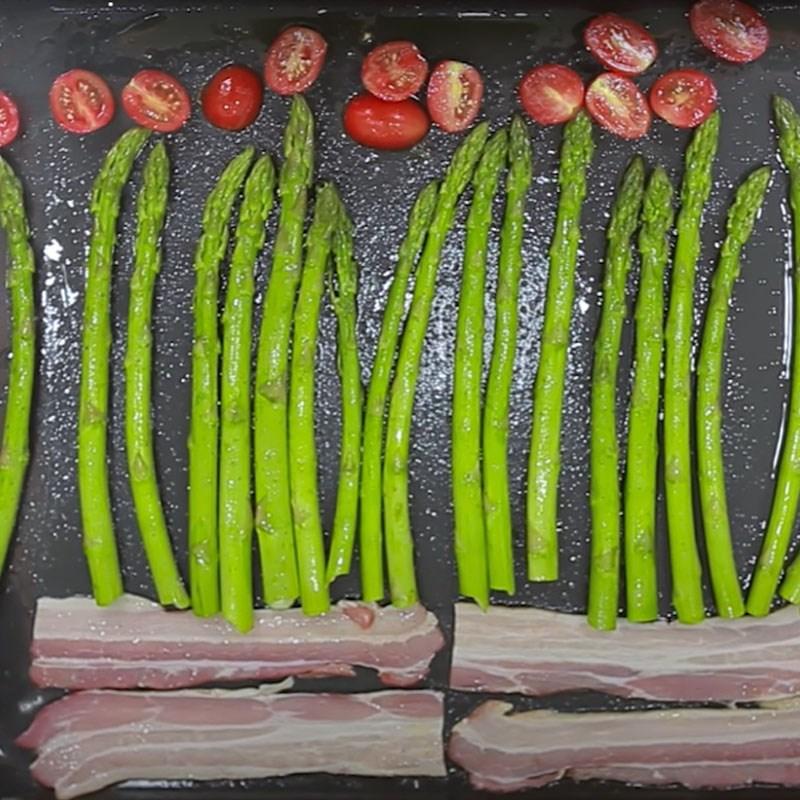 Bước 2 Nướng măng tây Măng tây nướng phô mai