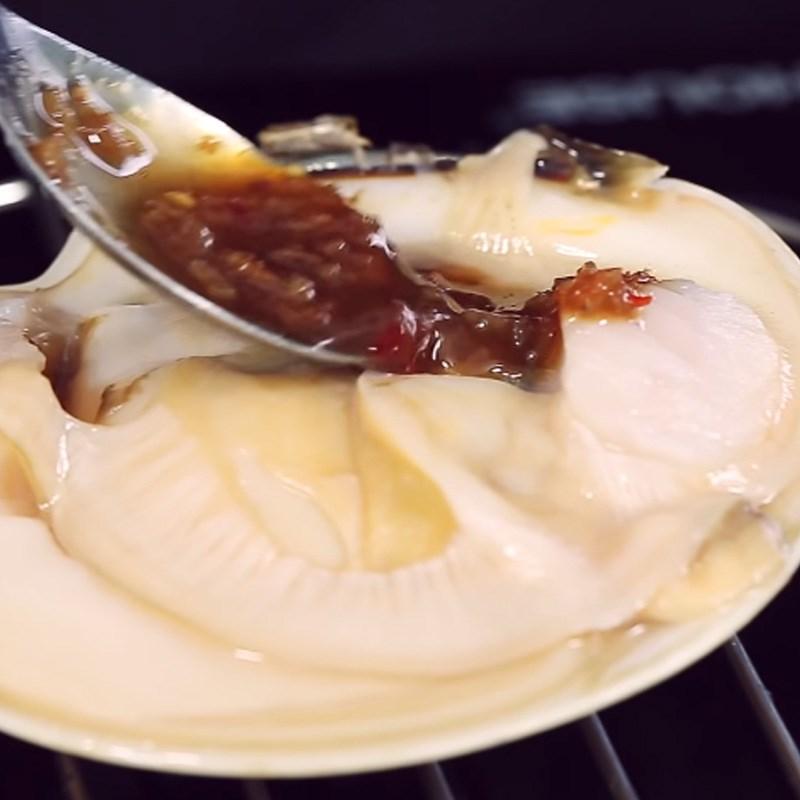 Bước 3 Nướng sò Sò bơ Mỹ nướng sốt mắm ruốc